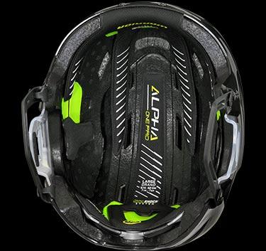 inside shot of helmet
