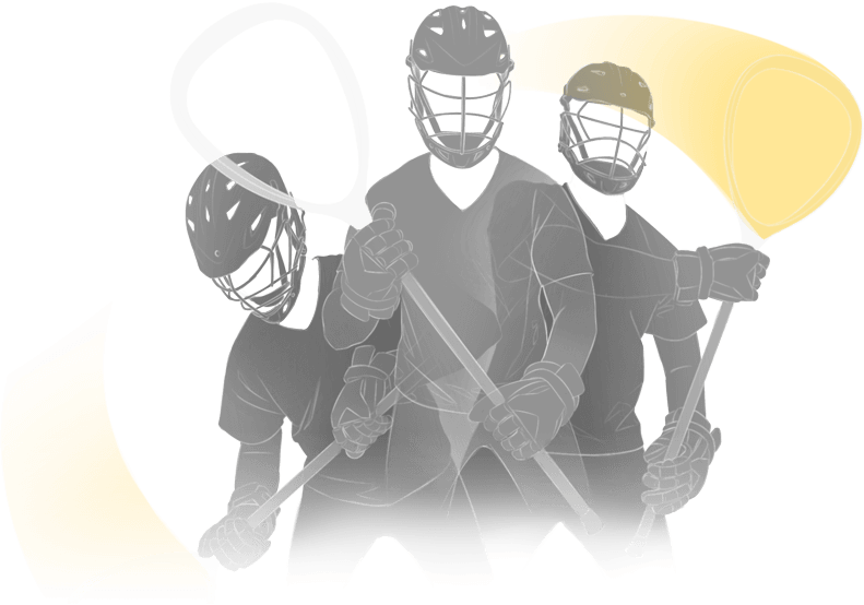 lacrosse players silhouette